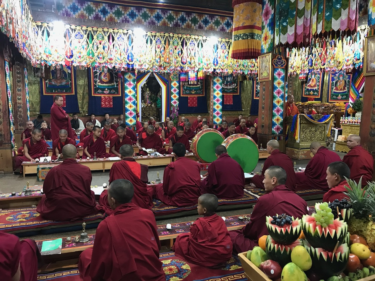 Monk Students of Simtokha Monastery